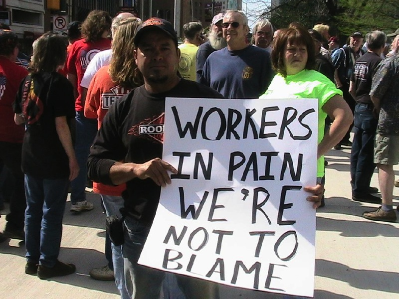 Unemployment insurance rally