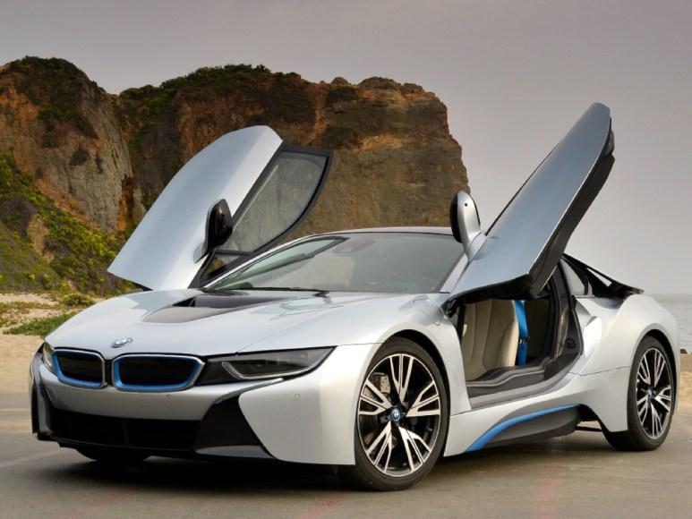 BMW i8. Plug-in hybrid. 76 MPGe. 15 mile range using only the battery.