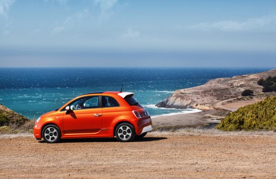 Fiat 500e. 100% electric. 115 MPGe. 87 mile range.