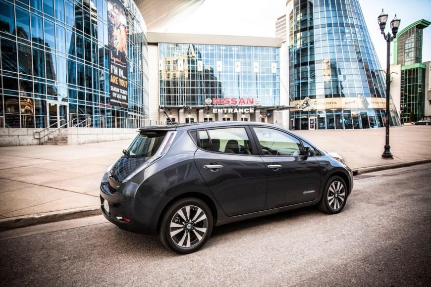 Nissan Leaf. 100% electric. 114 MPGe. 84 mile range.