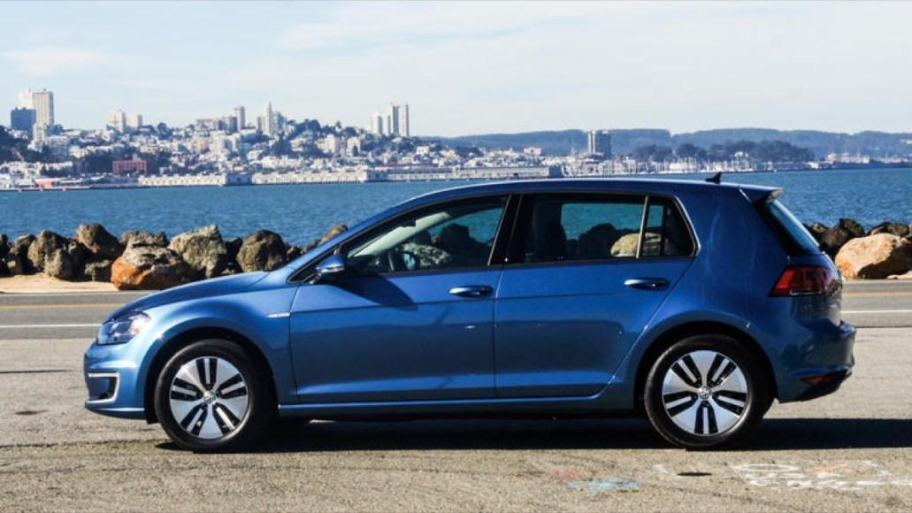VW eGolf. 100% electric. 116 MPGe. 83 mile range on battery.