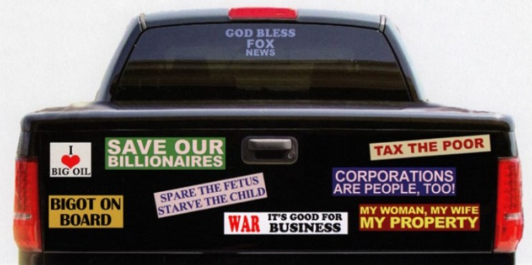 right wing bumperstickers