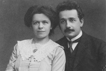 Albert and Mileva Einstein, 1912.