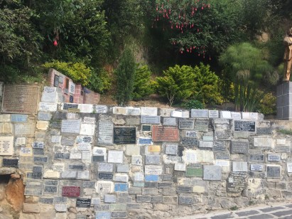 Plaques to our lady at Las Lajas