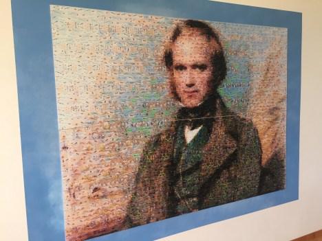 Image of Charles Darwin at the research centre in Santa Cruz