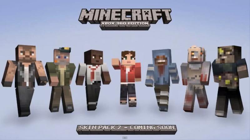 Minecraft Xbox 360 Edition Skin Pack 2 Details LeftStickDown