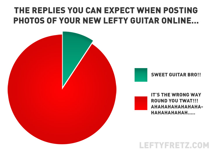 Lefty Guitar Pie Chart, leftyftetz.com