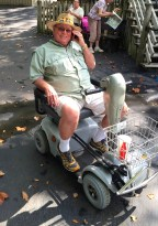 Motorized wheel chair allowed us to enjoy Branson, Mo