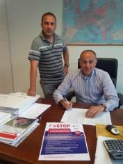 Il vicepresidente e il presidente di Apofruit Italia
