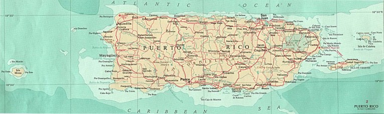 Puerto Rico Maps   Perry Casta    eda Map Collection   UT Library Online Commonwealth of Puerto Rico Maps