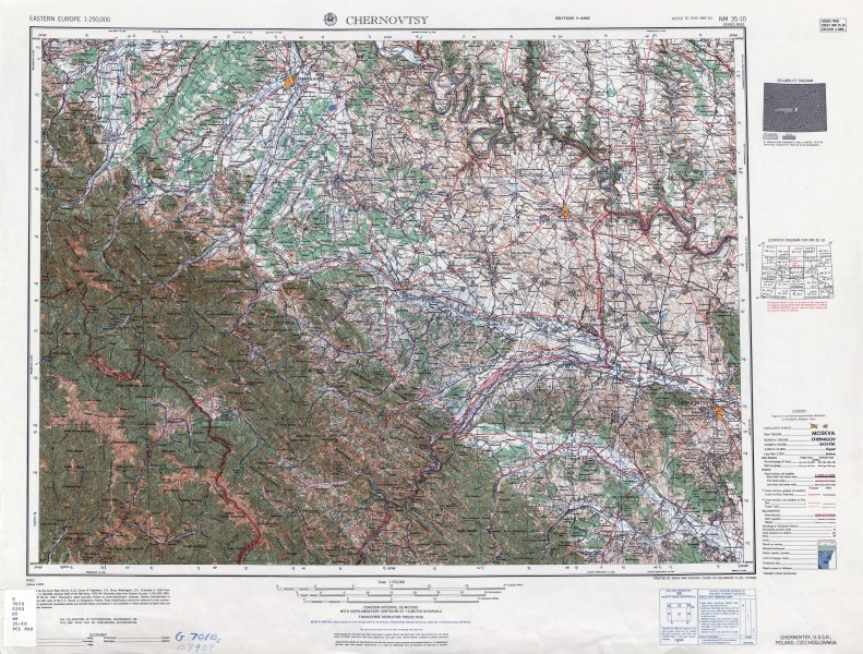 Eastern Europe AMS Topographic Maps   Perry Casta    eda Map Collection         NM 35 10 Chernovtsy