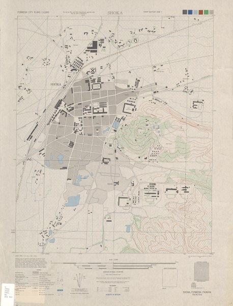 Formosa City Plans   Perry Casta    eda Map Collection   UT Library Online     Shoka 1 6 000 1945  4 7 MB