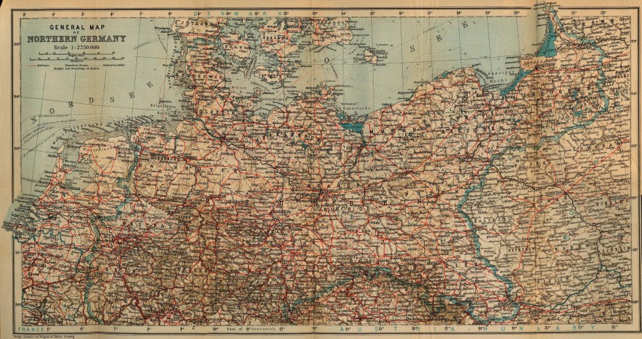 Baedeker s Northern Germany   Perry Casta    eda Map Collection   UT     Maps  Northern Germany