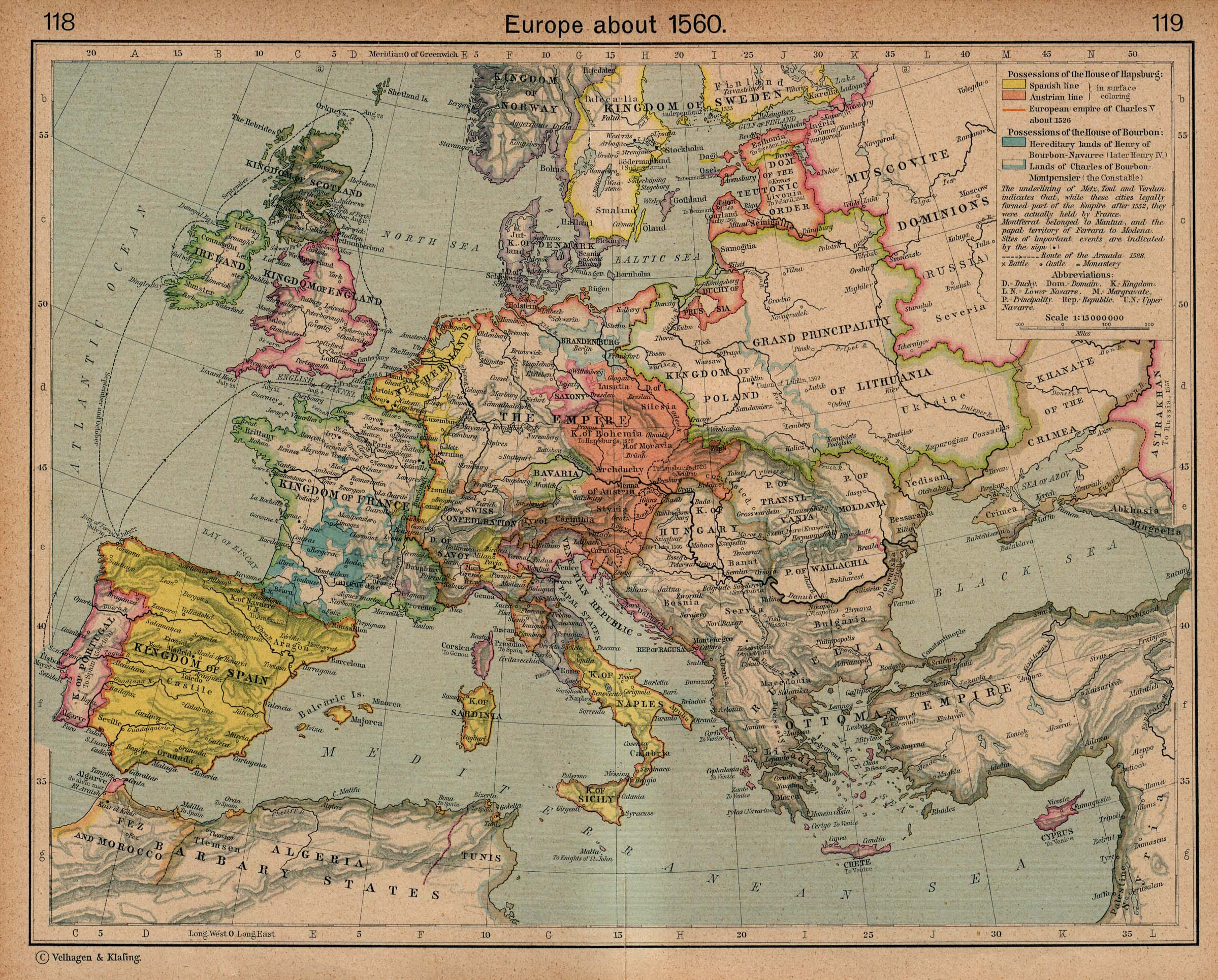 The Balkans Historical Maps   Perry Casta    eda Map Collection   UT     Europe about 1560  includes Balkans   941K   Map