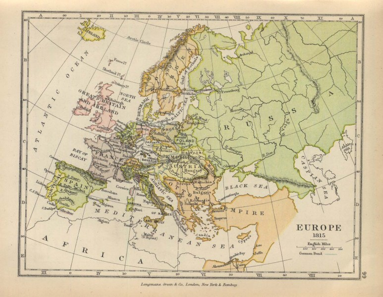 The Balkans Historical Maps   Perry Casta    eda Map Collection   UT     Europe 1815  includes Balkans
