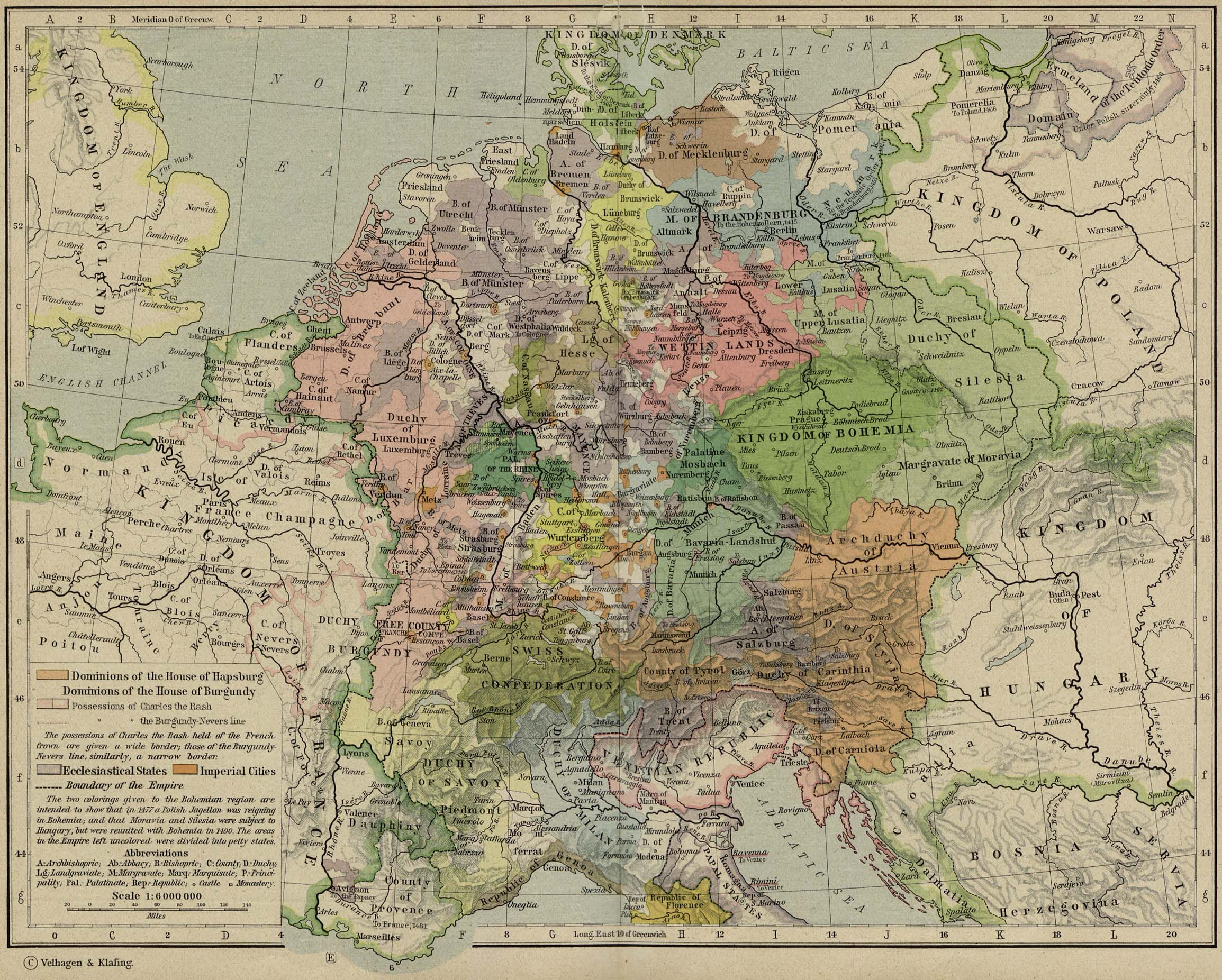 Europe Historical Maps   Perry Casta    eda Map Collection   UT Library     Central Europe about 1477