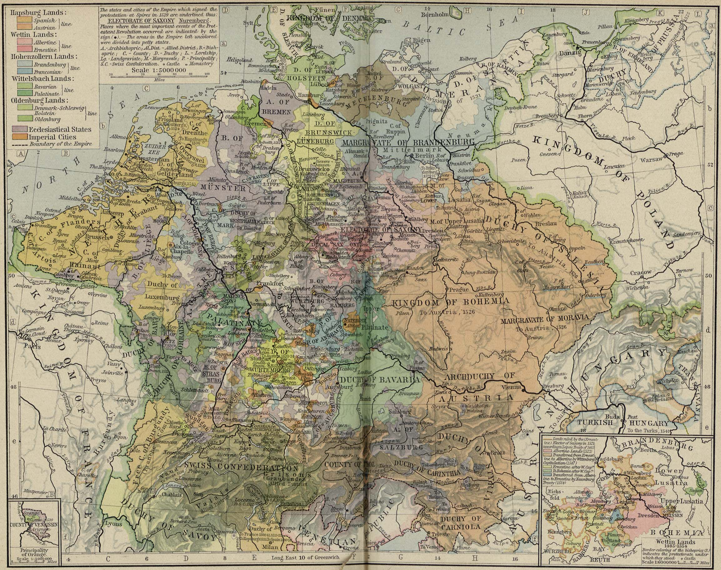 Europe Historical Maps   Perry Casta    eda Map Collection   UT Library     Central Europe   Central Europe about 1547