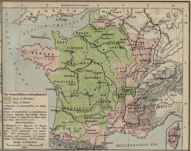 France Maps   Perry Casta    eda Map Collection   UT Library Online  477K   France 1789