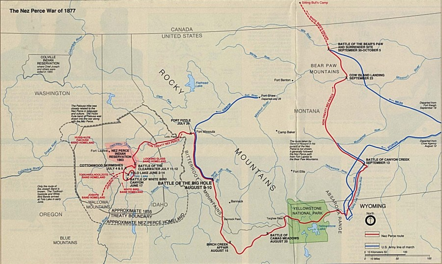 United States National Parks and Monuments Maps   Perry Casta    eda         Big Hole National Battlefield   The Nez Perce War of 1877  Montana    Area Map
