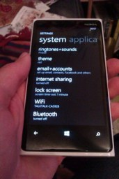 The System Settings page.