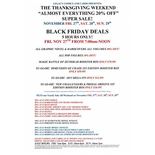 Our yearly Thanksgiving weekend sale is almost here!  Check out our Black Friday specials! #blackfridaysale #thanksgivingweekendsale
