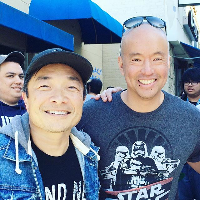 Howard (the owner of Legacy) with JIM LEE. #legacycomicsandcards #jimlee #dccomics