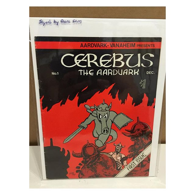 Newest arrival #cerebus #1 1st print signed by #davesim