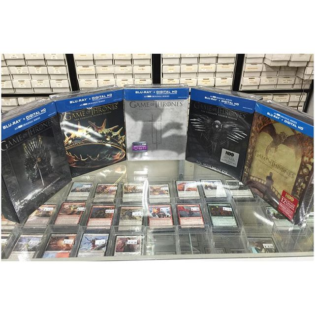 We are giving away 5 seasons of #gameofthrones blu-rays for free tomorrow!  All you have to do is like and share our post on our Facebook page https://m.facebook.com/legacycomicsandcards/ 1 winner will be picked at random 3/23/16
