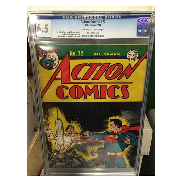 #goldenagecomics back from #cgc #actioncomics #72 #superman