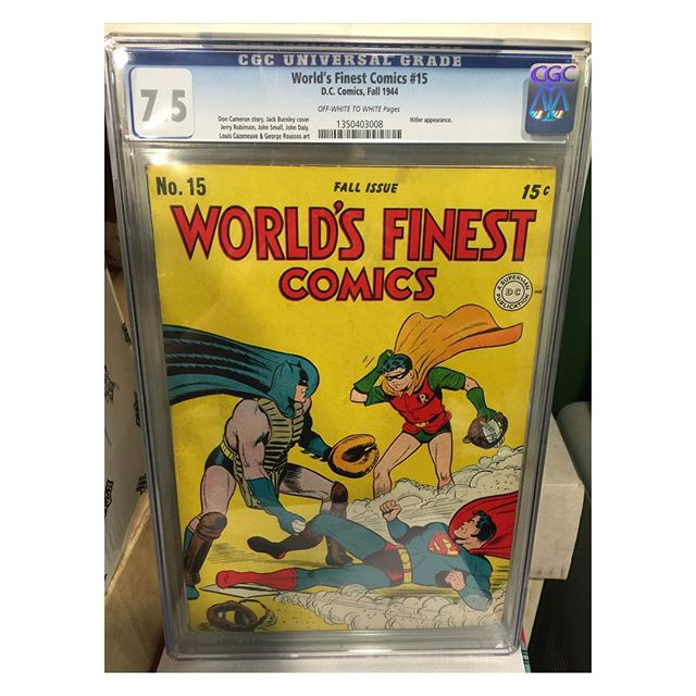 #goldenagecomics back from #cgc #worldsfinestcomics #15 #batman #robin #superman