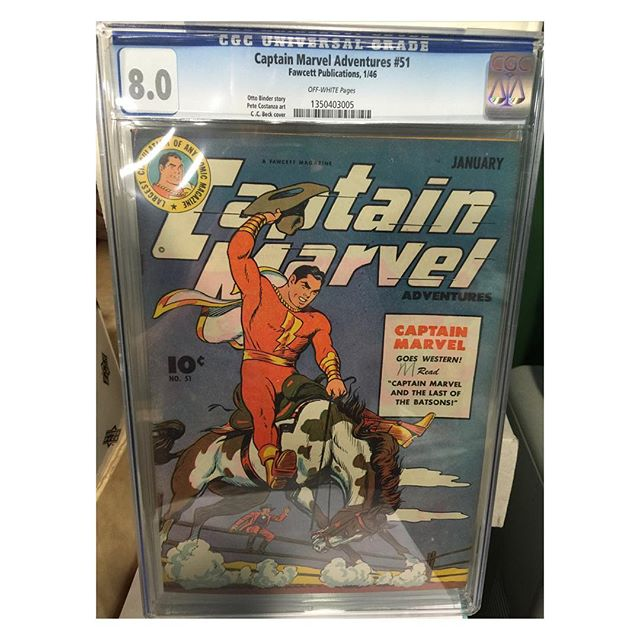 #goldenagecomics back from #cgc #captainmarvel adventures #51 #highgrade
