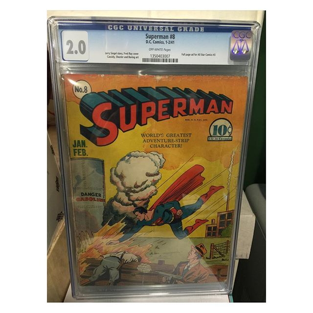 #goldenagecomics back from #cgc #superman #8