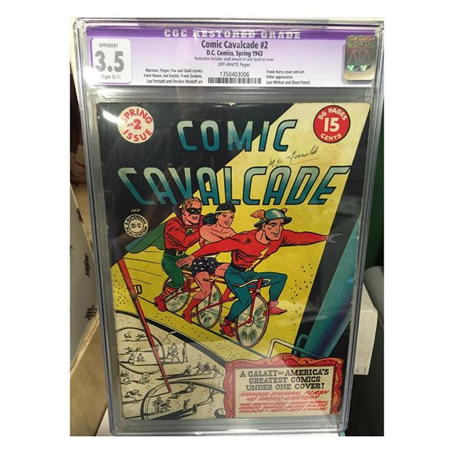 #goldenagecomics back from #cgc Comic Cavalcade #2 #greenlantern #flash #wonderwoman