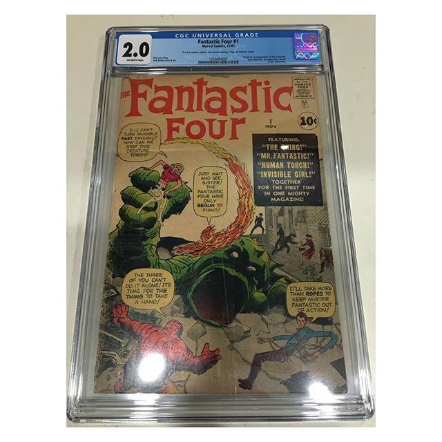 Just in from #cgc #fantasticfour #1 Universal CGC 2.0 OW pages!  New CGC case design