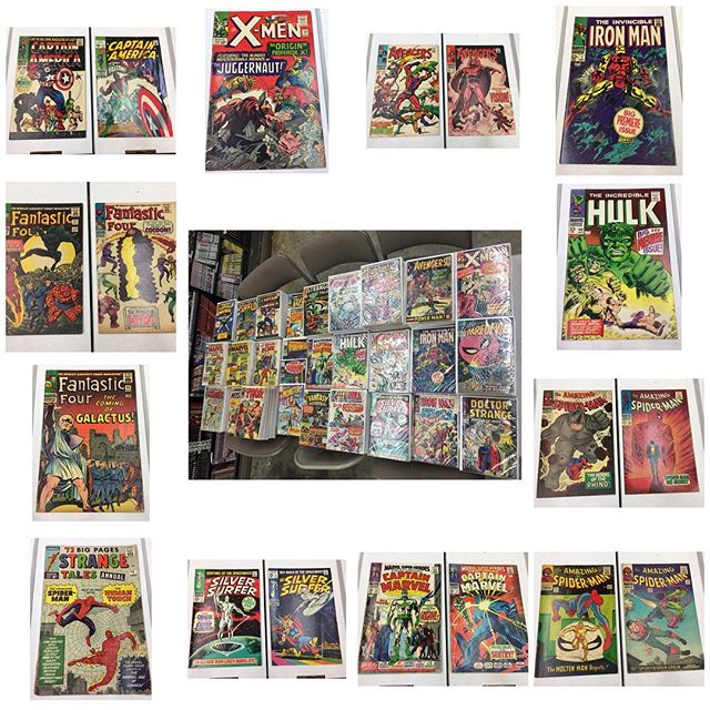Some of the keys from the #silverage #comics collection that came in!  Please DM for pricing or email us at legacycomics@hotmail for the complete inventory of the collection #forsale #captainamerica #spiderman #igcomics #igcomicfamily #avengers #xmen #ironman #daredevil #hulk #thor #fantasticfour #silversurfer