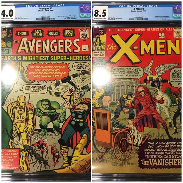 New Arrivals from #CGC #forsale #igcomics #igcomicfamily #avengers #xmen #silveragekeys please DM for pricing