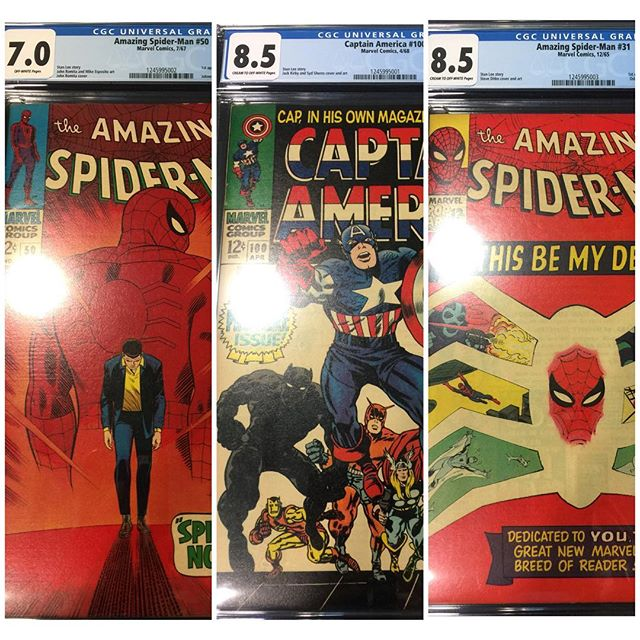 More Keys from #cgc #spiderman #captainamerica #gwenstacy #kingpin #igcomics #igcomicfamily #silveragecomics #silveragekeys #forsale Please DM for pricing