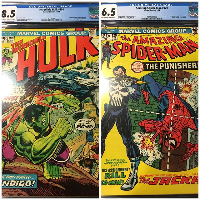 New #cgc arrivals!  For sale. Please dm for pricing #hulk #wolverine #spiderman #punisher #igcomics #igcomicfamily