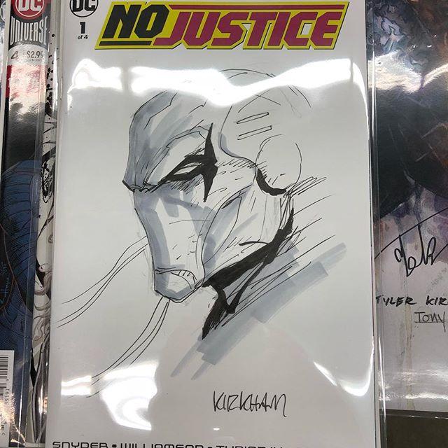 Tyler Kirkham sketching now!