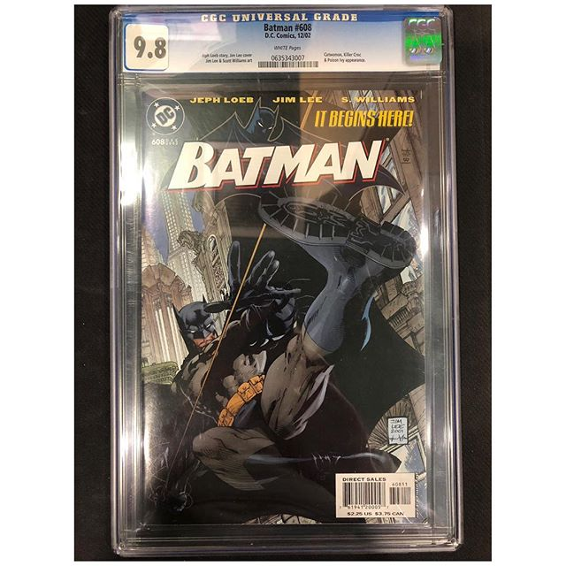 Happy Halloween  #igcomicfamily !  How many of you are celebrating dressed up as #batman related characters?  Here are some CGC #darkknight comics for sale to get you in the mood!  DM us for pricing #igcomics #cgccomics #cgccomicsforsale #cgc #jimlee #hush