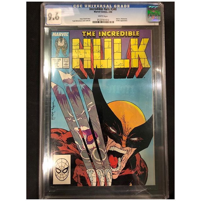 We got in some high grade Incredible Hulk CGC slabs featuring the classic Hulk vs Wolverine McFarlane cover and Sam Keith and Dale Keown classics for sale!  Please DM for pricing. #hulk #incrediblehulk #wolverine #toddmcfarlane #cgccomics #samkeith #dalekeown #cgc #igcomics #igcomicfamily