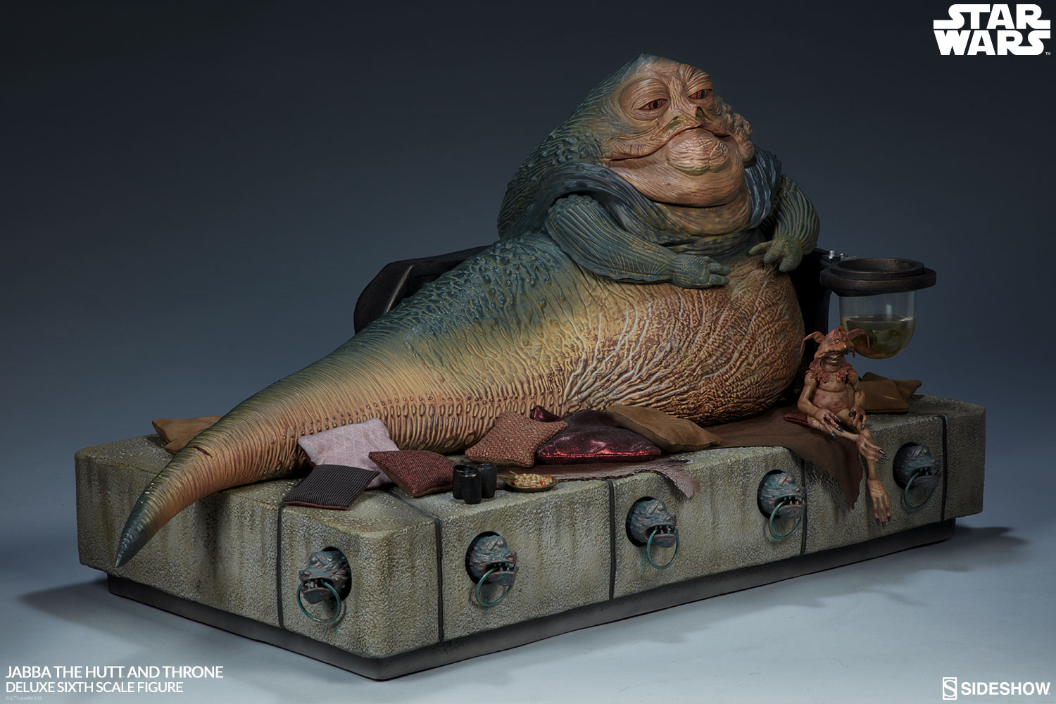 Jabba the Hutt and Throne Deluxe Star Wars Sixth Scale Figure by Sideshow