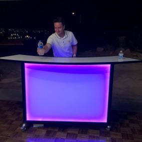 Portable Bar with lighting