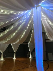 faux ceiling string lighting
