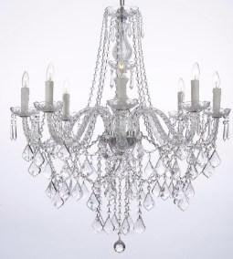 Glass elegant candle chandelier
