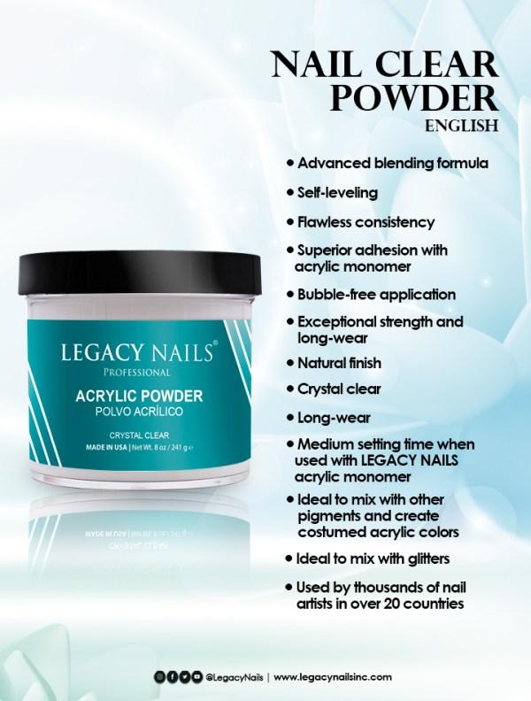 Clear Acrylic Powder eng