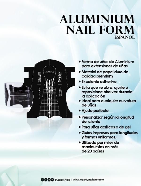 aluminium nail form esp