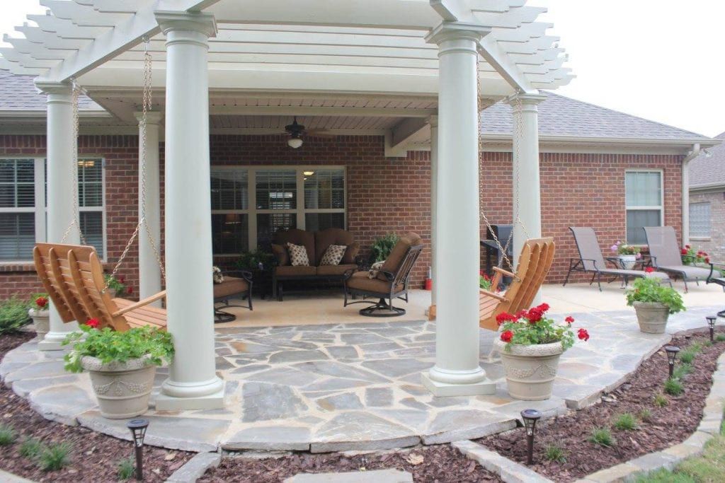 flagstone landscaping and lawn care