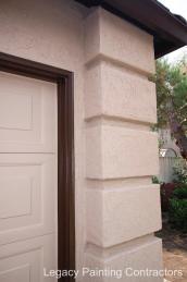 After: detailed exterior garage trim