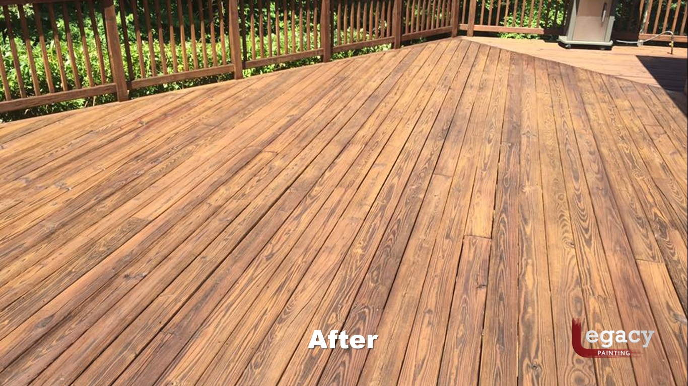 Deck Pressure Wash And Stain 6